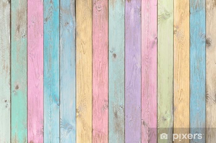 Kleurrijke Interieurs Pastel : Fotobehang kleurrijke pastel houten planken textuur of achtergrond