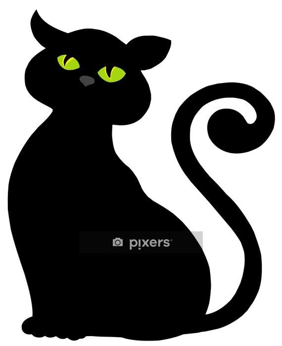 Muursticker Silhouet van de kat - Zoogdieren
