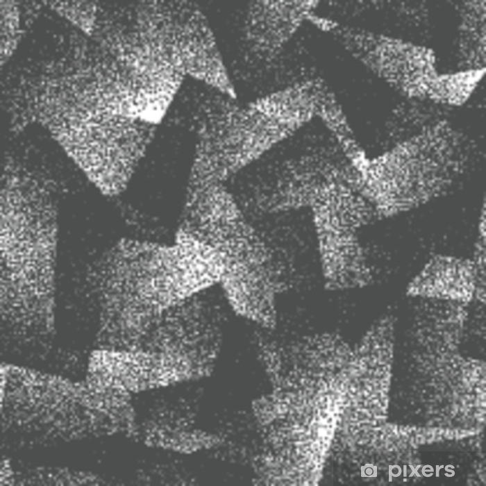 Sticker Pixerstick Résumé de vecteur pointillé modèle sans couture de hipster bizarre. fait à la main géométrique pointillé grunge blanc et noir solide fond simple. illustration d'art bizarre - Ressources graphiques