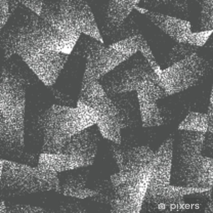 Vinilo Pixerstick Resumen de vector stippled extraño patrón sin fisuras de hipster. Hecho a mano enlosables geométricos punteados grunge blanco y negro sólido simple fondo. ilustración de arte extraño - Recursos gráficos