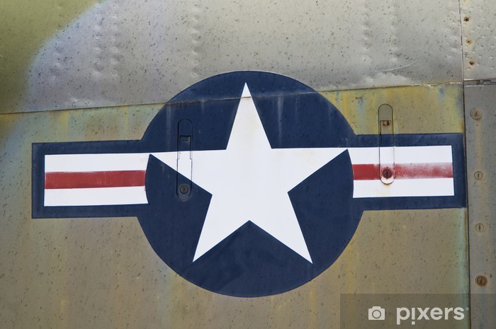 Naklejka Pixerstick Zamknąć z USA sił powietrznych symbolem. - Sukces i osiągnięcia