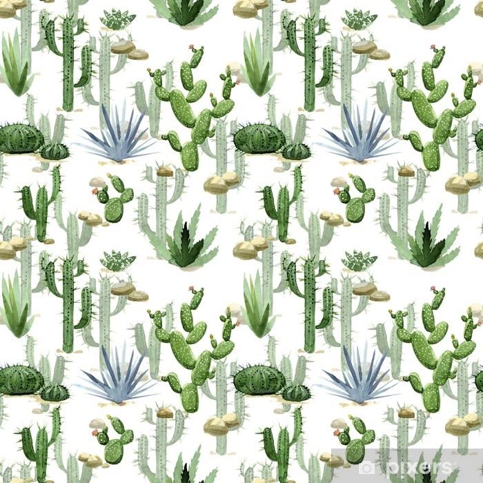 Papier Peint Modèle Sans Couture Aquarelle Cactus Illustration