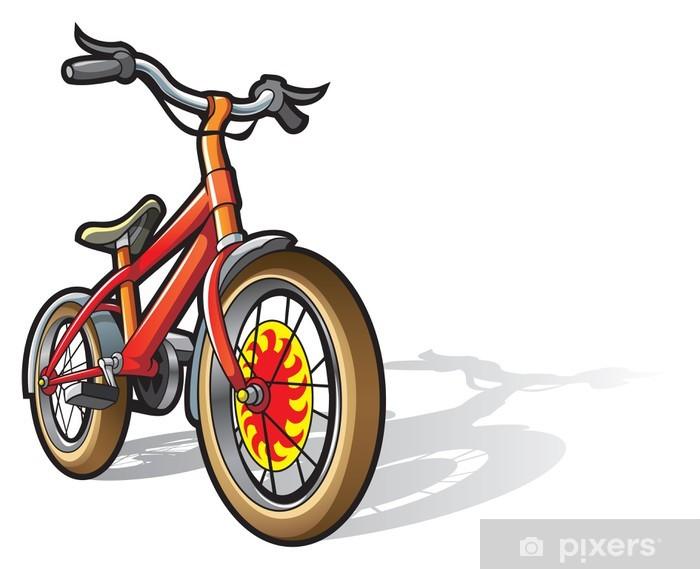 Aufkleber Kinder Fahrrad In Hellen Farben Fotorealistische Vektor Pixerstick