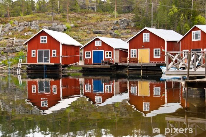 Fototapeta winylowa Boathouse Odbicie - Europa