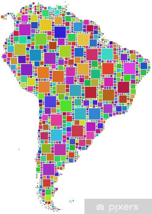 Fotomural Estándar Mosaico colorato dell'America Latina - América