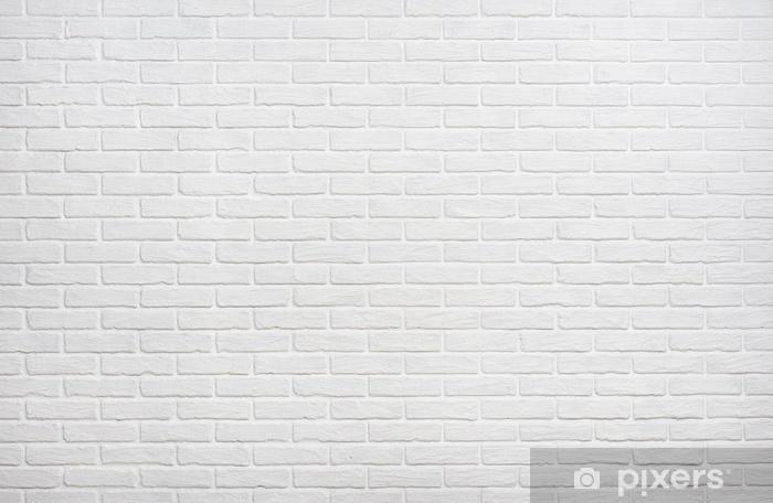 Naklejka Pixerstick Biała cegła na ścianie zdjęcie tła - Zasoby graficzne