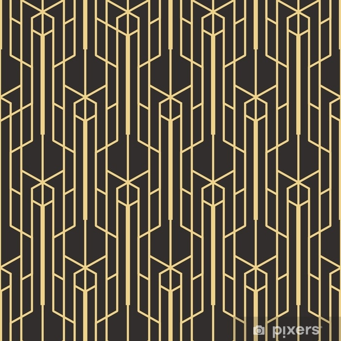 Abstract art deco seamless monochrome background Vinyl Wall Mural - Graphic Resources