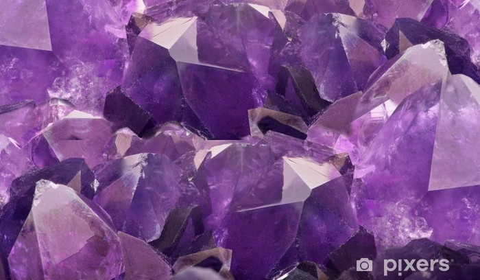lilac amethyst crystals closeup background Vinyl Wall Mural - Lifestyle