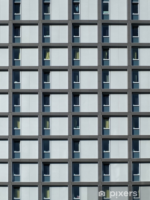 Fototapeta winylowa Nowoczesne osiedle z powtarzalnymi oknami - Budynki i architektura