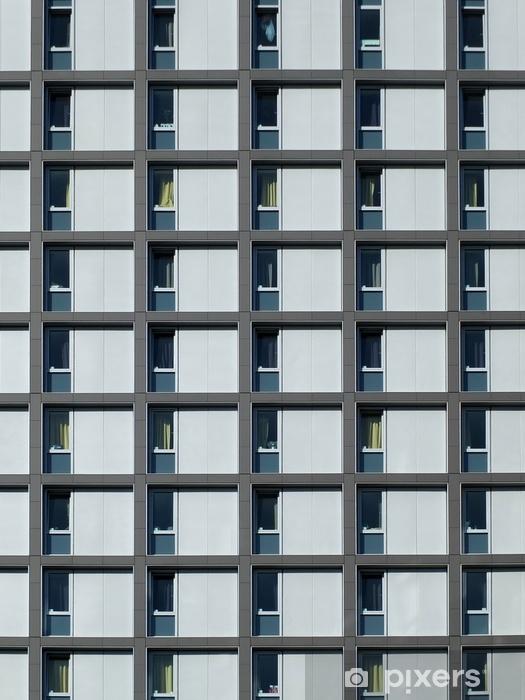Sticker Pixerstick Lotissement moderne avec fenêtres à motifs répétitifs - Bâtiments et architecture