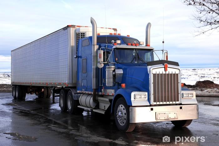 Papier peint vinyle Classique gros camion américain plein air - Sur la route