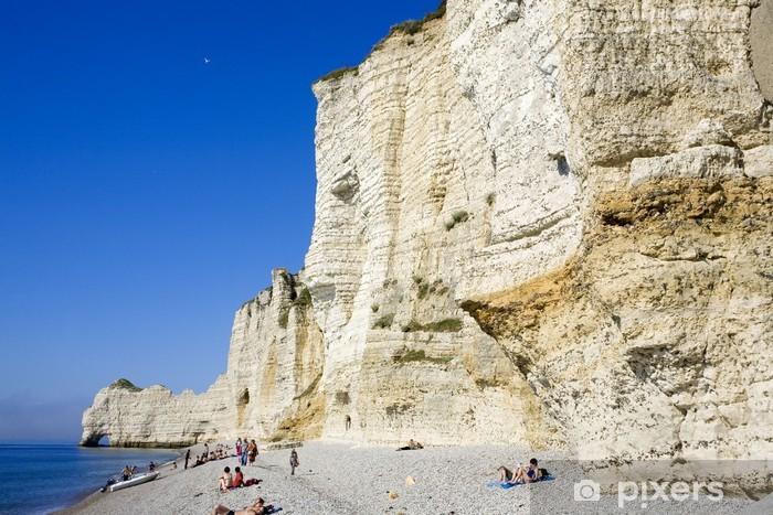 France Normandie Etretat Plage Et Falaise Wall Mural Pixers