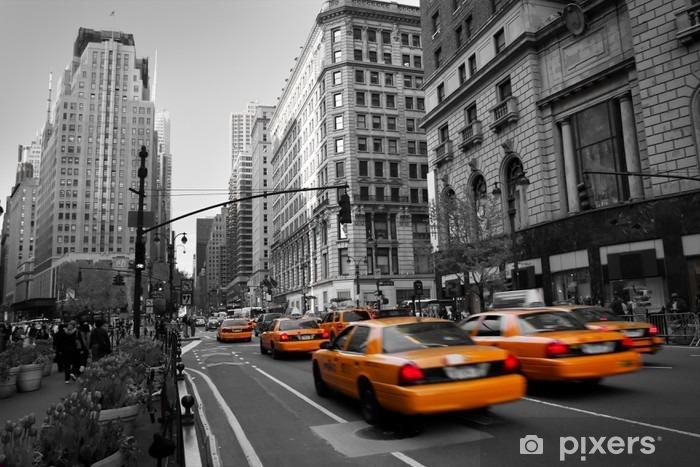 Taxies in Manhattan Pixerstick Sticker - Styles