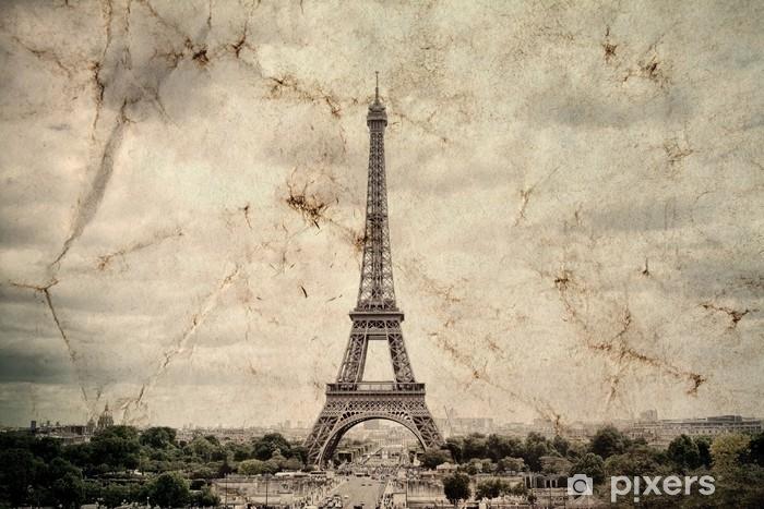 Fotomural Torre Eiffel En París. Fondo De Vista Vintage