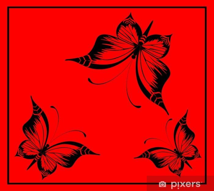 Sticker Pixerstick Beau papillon - Autres Autres