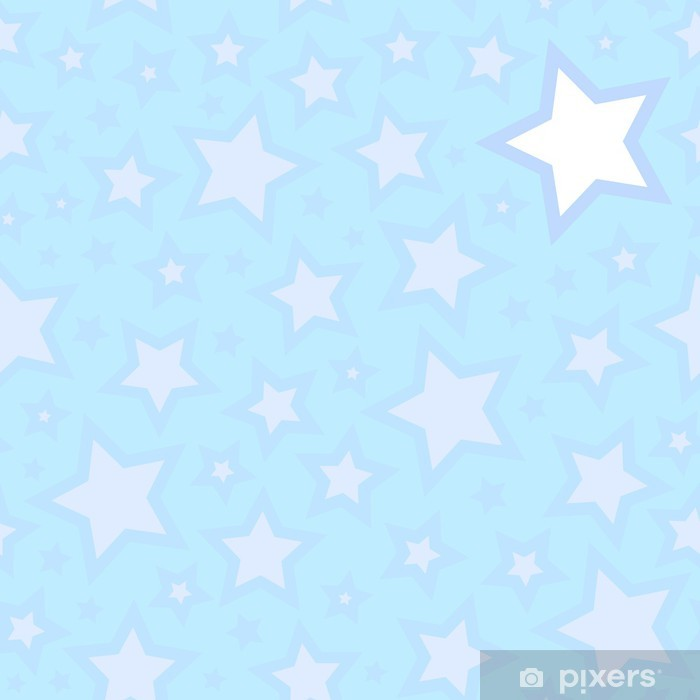 Seamless stars background Vinyl Wall Mural - Themes