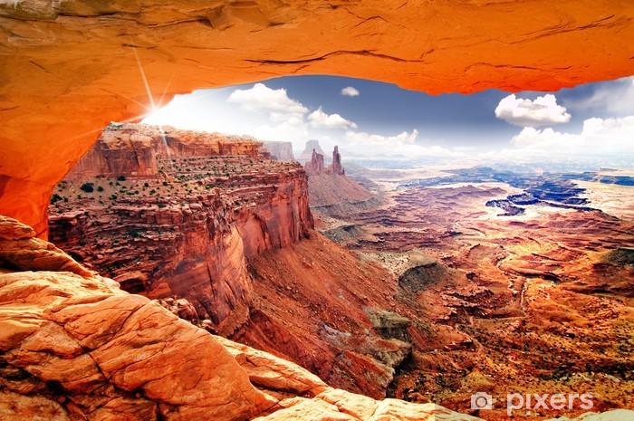 Vinyl Fotobehang Hemelse mening van wereld - Woestijn