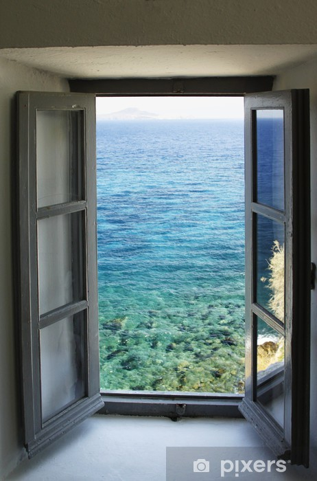Window & sea Vinyl Wall Mural - Monuments