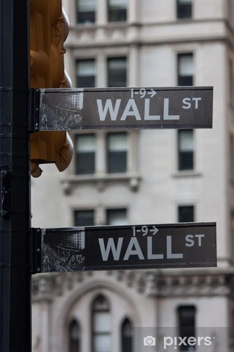 Naklejka Pixerstick Wallstreet znak - Ameryka