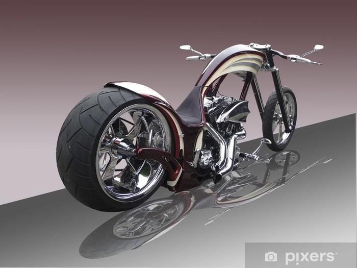 Naklejka Pixerstick Chopper - z refleksji - wektor - Transport drogowy