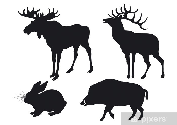 Silhouettes of animals Vinyl Wall Mural - Mammals