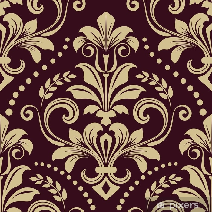 Seamless Vintage Wallpaper Pattern Poster Pixers We Live To