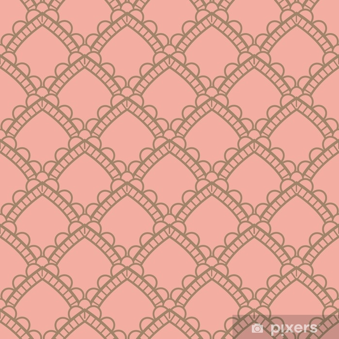 Seamless antique palette simple art deco wave scales pattern vector. Seamless Art-Deco Vintage Pattern Washable Wall Mural - Graphic Resources