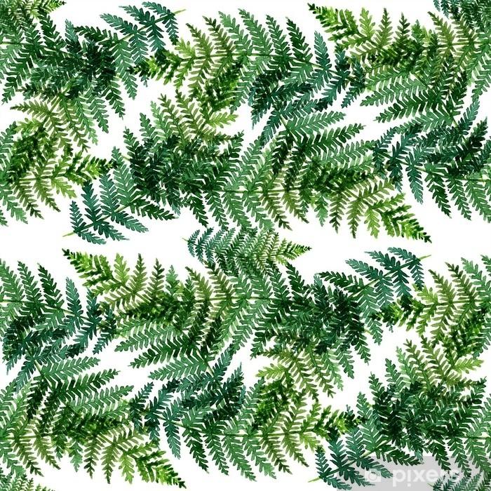 Fototapeta winylowa Tropikalny akwarela abstrakcyjny wzór z liści paproci - Zasoby graficzne