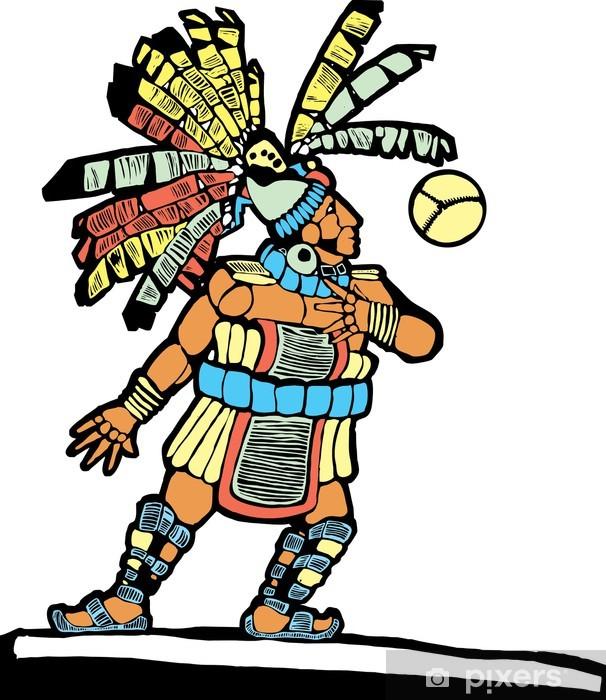 Naklejka Pixerstick Mayan Ballplayer # 1 - Rozrywka