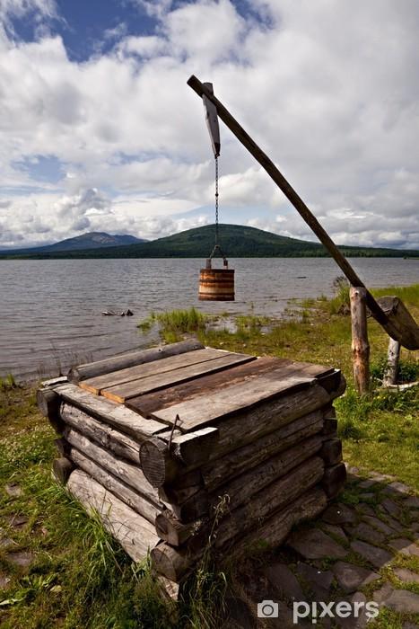 Fotomural Estándar De madera vieja los pozos - Entretenimiento