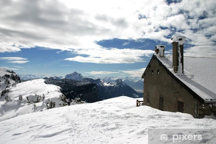 Sticker pour vitres et fenêtres Chalet montagne - Vacances