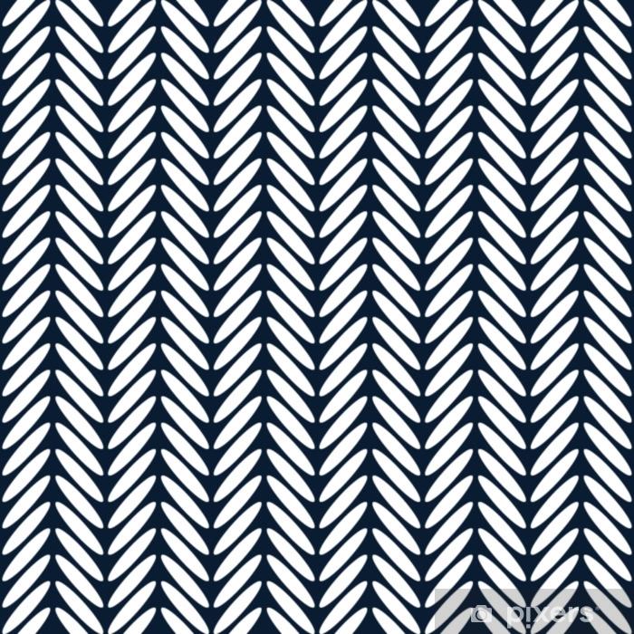 Pixerstick Sticker Visgraat klassieke naadloze patroon vector - Grafische Bronnen