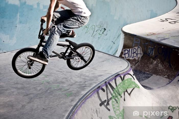 Pixerstick Sticker BMX im Skatepark - Wielersport