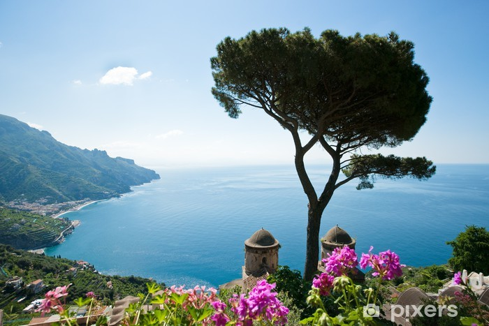 Naklejka Pixerstick Wybrzeże Amalfi Widok - Tematy