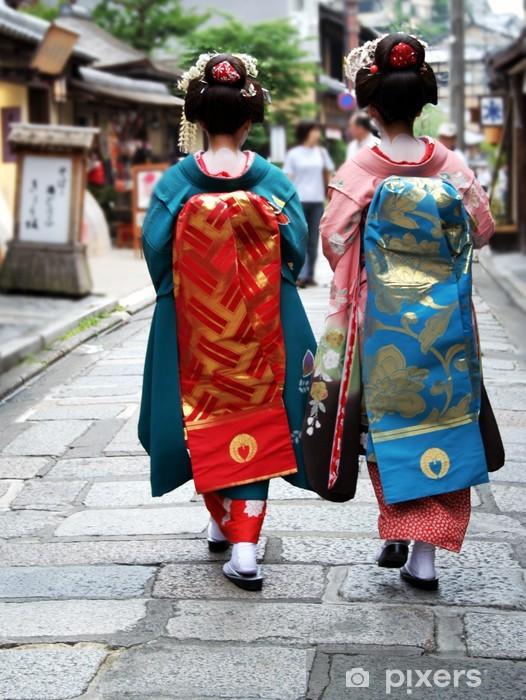 geisha girls Pixerstick Sticker - Asia