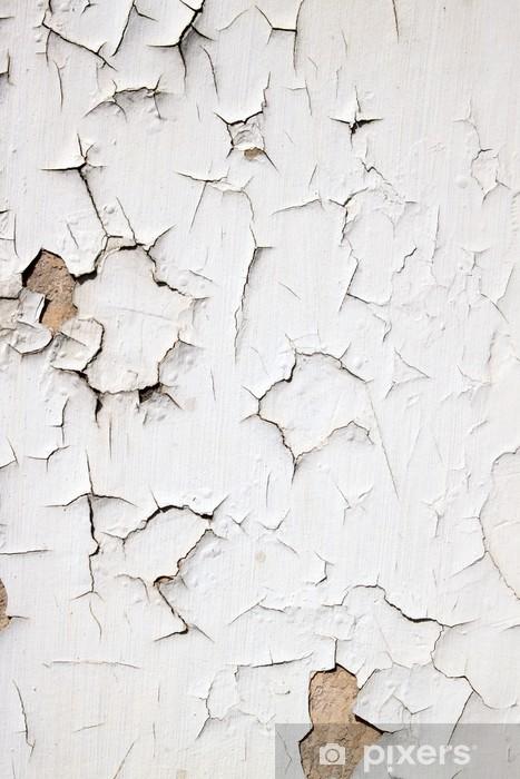Papier Peint Vieux Peinture Blanc Floconneux Decoller Un Mur Pixers Nous Vivons Pour Changer