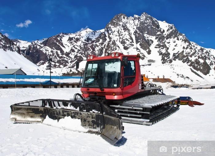 Fototapeta winylowa Red snowcat - Maszyny