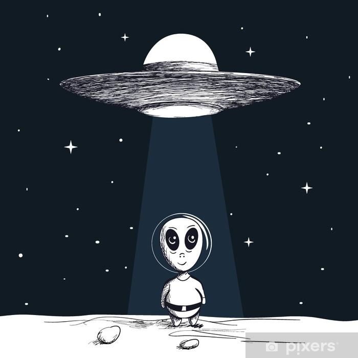Alfombrilla de baño La llegada de un extranjero de OVNI - Ciencia