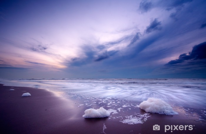 Vinyl Fotobehang Oceaan 's nachts - Thema's