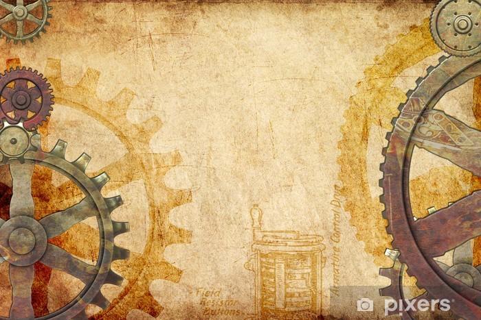 Fototapeta winylowa Gears Steampunk i Zębatki Tło - Steampunk