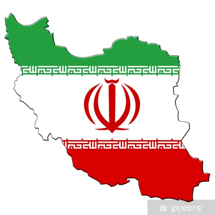 Carte drapeau iran