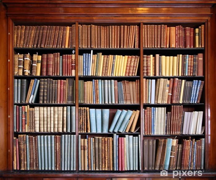 Naklejka Pixerstick Stary regał biblioteczny - Biblioteczka