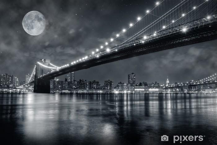Vinilo Pixerstick Puentes de brooklyn -