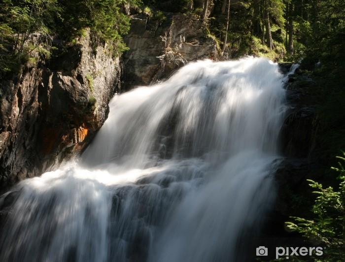 Sticker Pixerstick Qui coule en cascade - Nature et régions sauvages