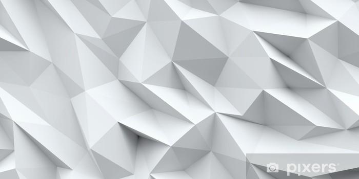 Fototapet av Vinyl Vit bakgrund. abstrakt triangelstruktur. - Grafiska resurser
