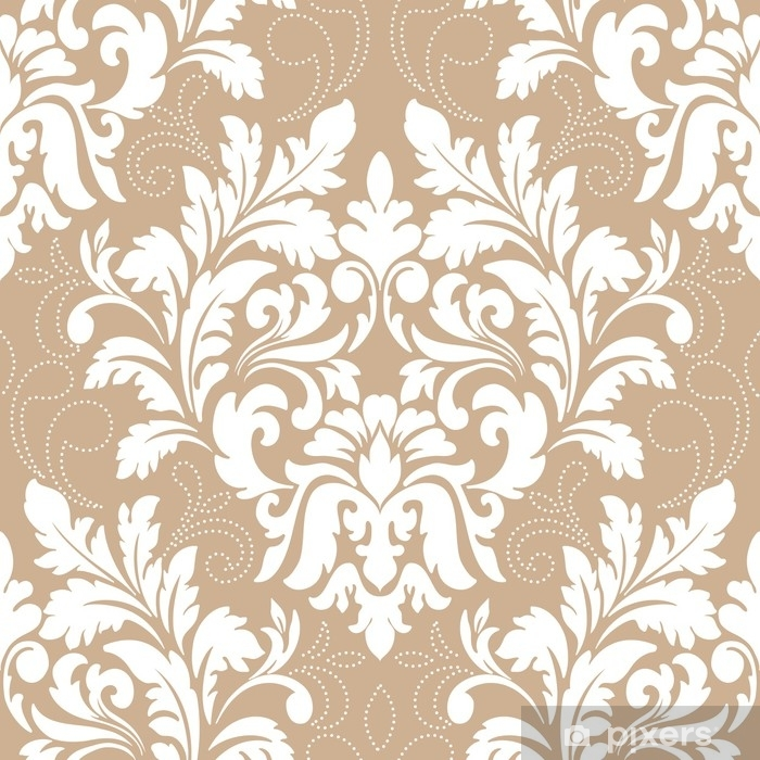 Vector damask seamless pattern element. Classical luxury old fashioned damask ornament, royal victorian seamless texture for wallpapers, textile, wrapping. Exquisite floral baroque template Vinyl Wall Mural - Graphic Resources