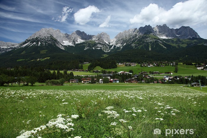 Vinyl Fotobehang Alpen - Vakantie
