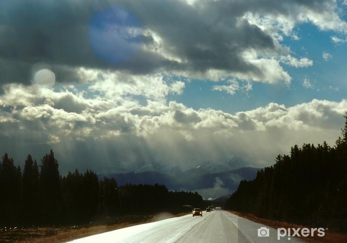 Vinyl-Fototapete Trans-Canada Highway 1 - Amerika