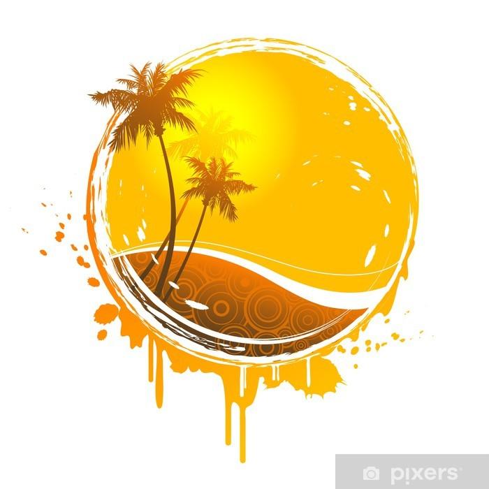 Papier peint vinyle Tropical splash soleil - Vacances