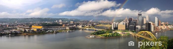 Papier peint vinyle Vue panoramique de la ville de Pittsburgh - Amérique